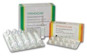 Препарат Транексам при маточном кровотечении (отзывы женщин)