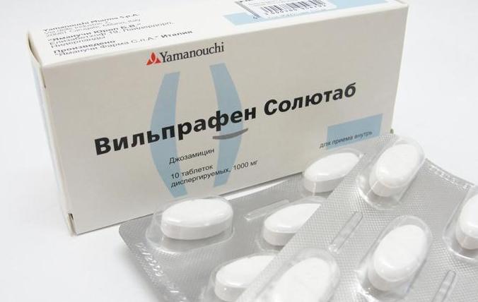 Вильпрафен при хламидиозе, схема лечения